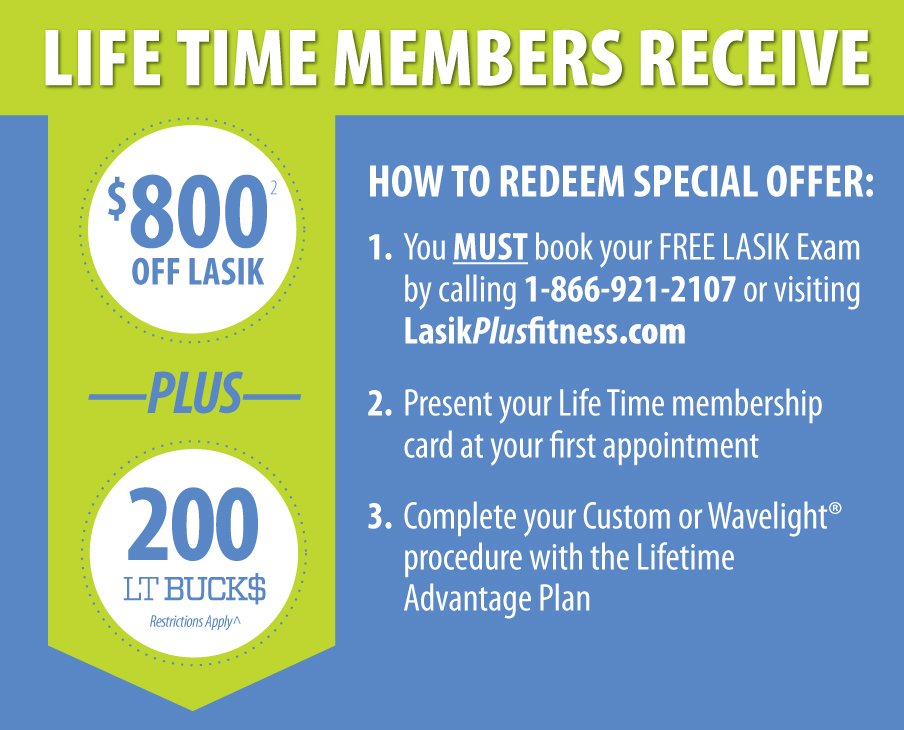 Life Time Members Save $800 + 150 LT Bucks